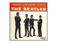 "Okładka singla ""She Loves You/I'll Get You"" The Beatles (US, styczeń 1964)"